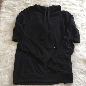 Hoodie with elbow cut outs